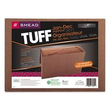 Smead Leather-Like Expanding File w/Flap &  Elastic Cord - 70390