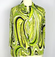 NWT Essentials Multi-color Plus Size 1X Shirt Top Blouse Pleated Ruffle Trim