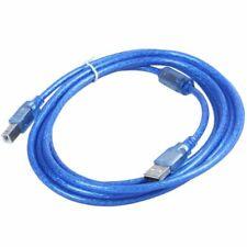 Bleu USB 2.0 3m Scanner A / B Imprimante Cable de donnees Pour HP Epson Dell R1