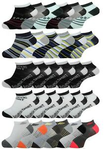 Boys Trainer Socks Childrens School Sports Wear Shoe Liners 6 Pairs Ankle Socks