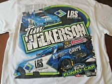 TIM WILKERSON LRS Nitro Funny Car T-Shirt White Size Medium 2-Sided