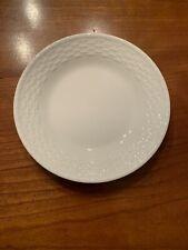 Wedgwood Nantucket Bread Plate, All White Basketweave - 6�