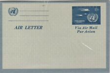 UNITED NATIONS 1952  MNH AIR LETTER SHEET