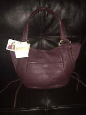 NWT Aimee Kestenberg  Burgundy Pebble Leather Handbag