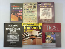 Carpentry Woodworking Books Illustrated Cabinetmaking Complete Dovetail Lot 10