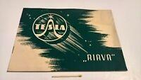 Vintage 1940s logo Nikola Tesla Riava radio brochure instruction catalogue Czech