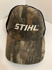 Camo Real Tree Stihl Black Mesh Back Adjustable Cap Hat