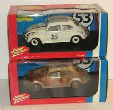 2 Johnny Lightning Disney Herbie Love Bug Goes Bananas VW Beetle 1:18 Diecast