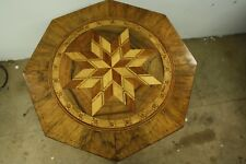Octagonal Georgian Starburst Compass Inlaid Occasional Table