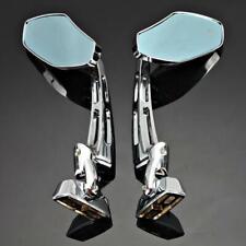 2x Motorcycle Chrome Rearview Mirrors for Suzuki GSXR 600 750 1000 Hayabusa 1300