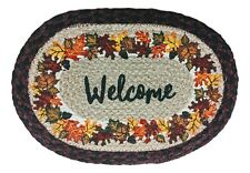 AUTUMN WELCOME 100% Natural Braided Jute Oval Swatch Trivet/Placemat, Earth Rugs