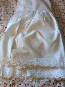 VTG Ralph Lauren Full/Double Bromley White Eyelet BedRuffle/Skirt Farmhouse NIOP