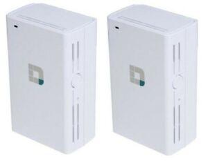 2-Pack D-Link DAP-1520 Wireless AC750 Dual Band Wi-Fi Range Extender