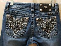 Miss Me Signature Straight  Jeans. Size 26X27.5 Rise 7.5 Waist Flat 14.5=29X27.5