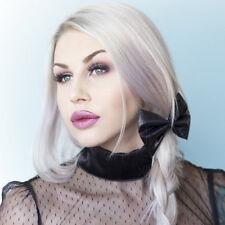 Cute Black Lamé Metallic Hair Bow