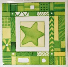 Green Star Rub On Permanent Transfer Decal Glass Tiles Plastic Scrapbooking DT64