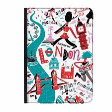 "Love London Big Ben British Universal 7"" Leather Flip Case Cover"