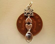 BEAUTIFUL STERLING SILVER WELSH DRAGON LOVESPOON CHARM