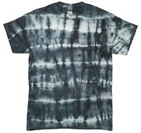Black & White TIE DYE T SHIRT Stripe Tye Die Tshirt Festival Top Rainbow Rave