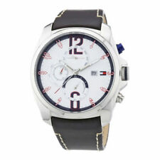 TOMMY HILFIGER MEN'S WATCH 1790834 CHRONO BROWN LEATHER BAND