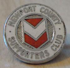 Newport County FC Vintage Supporters Club badge broche épingle en Chrome 20 mm Dia