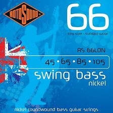 ROTOSOUND RS66LDN NICKEL ROUNDWOUND 4 STRING BASS GUITAR STRINGS 45-105