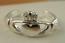 Sterling Silver Claddagh Toe Ring or Pinkie about a size 4.50