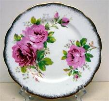 "ROYAL ALBERT-AMERICAN BEAUTY-BREAD&BUTTER PLATE-SZ-6 1/4""-ENGLAND"