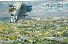 Zeppelin, Graf Zeppelin lenkbares Luftschiff in voller Fahrt, Verlag TSN,