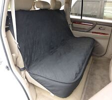 Luxury Dog Cat Pet Car Back Seat Back Bench Cover Quilted Padded Washable Black