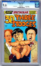 THREE STOOGES 3-D #1 CGC 9.6 CLASSIC EYE-POKE CVR 3-D GLASSES INC ECLIPSE 1986