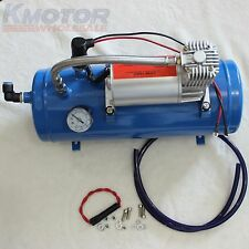 Air Compressor With 6 Liter Tank DC 12V 150PSI For Train Horns Motorhome Tires