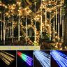 288 LED Meteor Shower Lights Falling Rain Drop Icicle Waterproof Christmas Decor