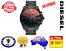 DIESEL DZ4318 Mega Chief Black Multi Mens Watch Stainless Steel Chrono