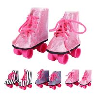 Fashionable Doll Toy Accessories Doll Roller Skate Shoes for 18inch Baby Doll