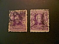 USA Lot of 2 1903  $.03 Jackson #302 Used F/VF - See Description & Images