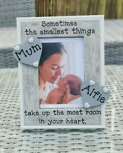 Personalised Mum and Daughter / Son Photo Picture Frame In Grey. Any Wording..