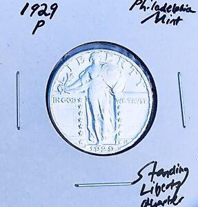 1929-P PHILADELPHIA MINT  KEY DATE!  U.S. STANDING LIBERTY QUARTER. E5