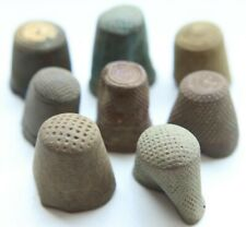 Group Of Antique Old Bronze Brass Thimbles (JYL)