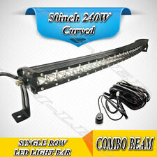 50 Inch CREE 240W LED Work Light Bar Spot Flood for SUV JEEP Ford Driving Lamps