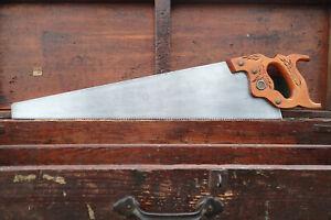 FRESHLY SHARPENED 24 inch DISSTON D-23 Carpenter's handsaw FINE 10 Point XCUT