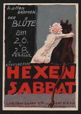 Ludwig Braunbeck Hexensabbat München Zeichnung Teufel Reklame Werbung