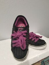 e55a6569807aae Vans Dustin Dollin DD-66 Black Purple Stripe Skateboarding Shoes Sz 7 Womens