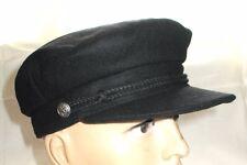 Fiddler Captain Hat Black Wool Retro Style Fiddler Breton