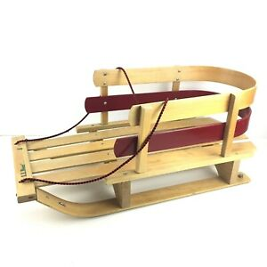 Vintage LL Bean Wooden Pull Sled - Made In Canada