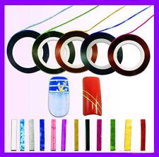 Beauty Art Lace Tape Line Strips False Nails 10 Striping Decoration Stickers Set