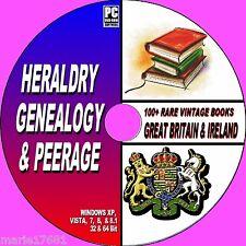 GB HERALDRY PEERAGE & GENEALOGY 100+ VINTAGE BOOK COLLECTION PC DATA DVD NEW