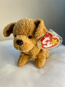 RARE and RETIRED Ty Beanie Baby TUFFY dog With TAG ERRORS 1996