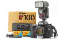 🔹N MINT in Box🔹Read Nikon F100 w/ AF Nikkor 50mm f1.4 D + MF-29 SB-80DX Japan