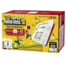 New Console 2ds White Red Nintendo System Super Mario Bros.2 Eu New
